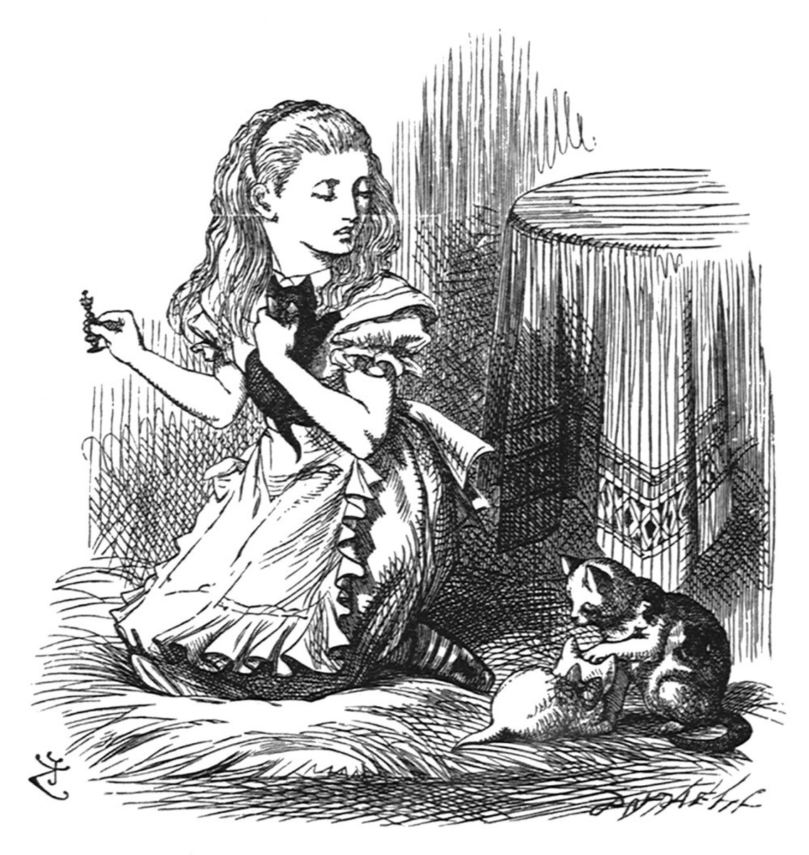 Alice, Dinah, and the kittens, Sir John Tenniel