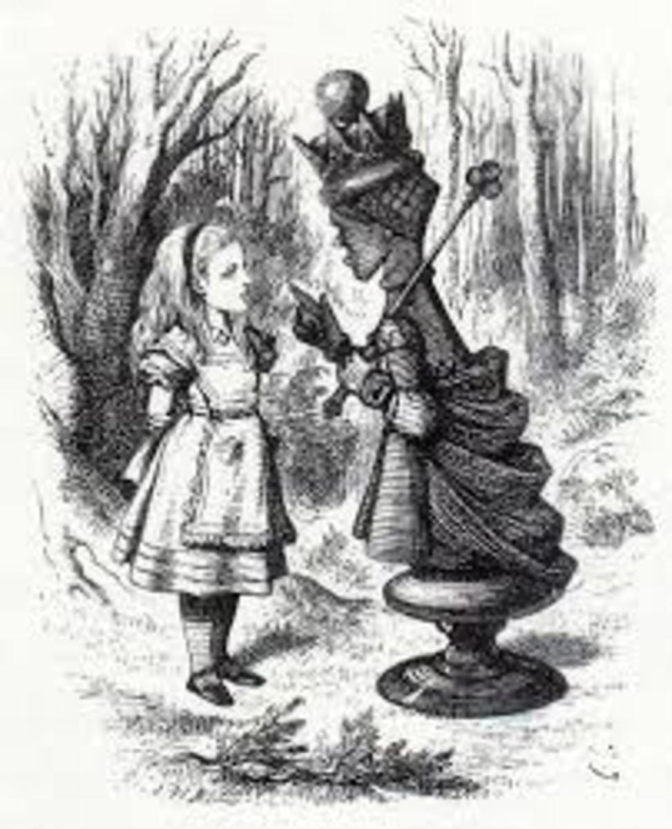 Alice and the Red Queen, Sir John Tenniel