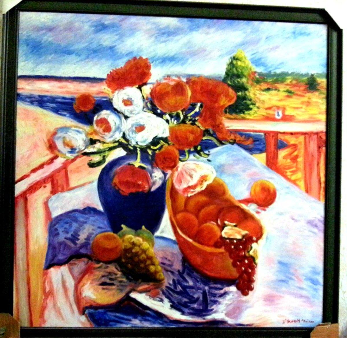 Reproduction painting that I bought in Phuket. Original artwork by S. Burkett Kaiser