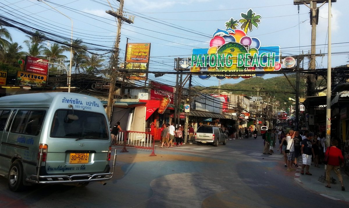 Bangla Road near Patong beach in Phuket