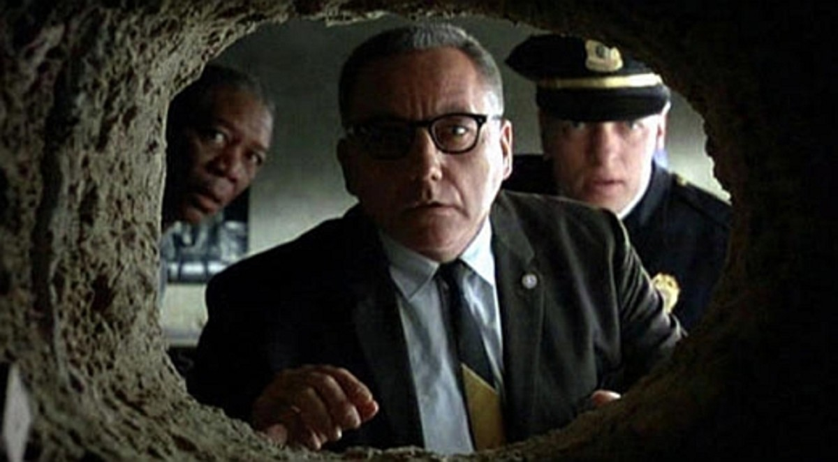 The tunnel that Andy Dufresne painstakingly carved for 19 years.