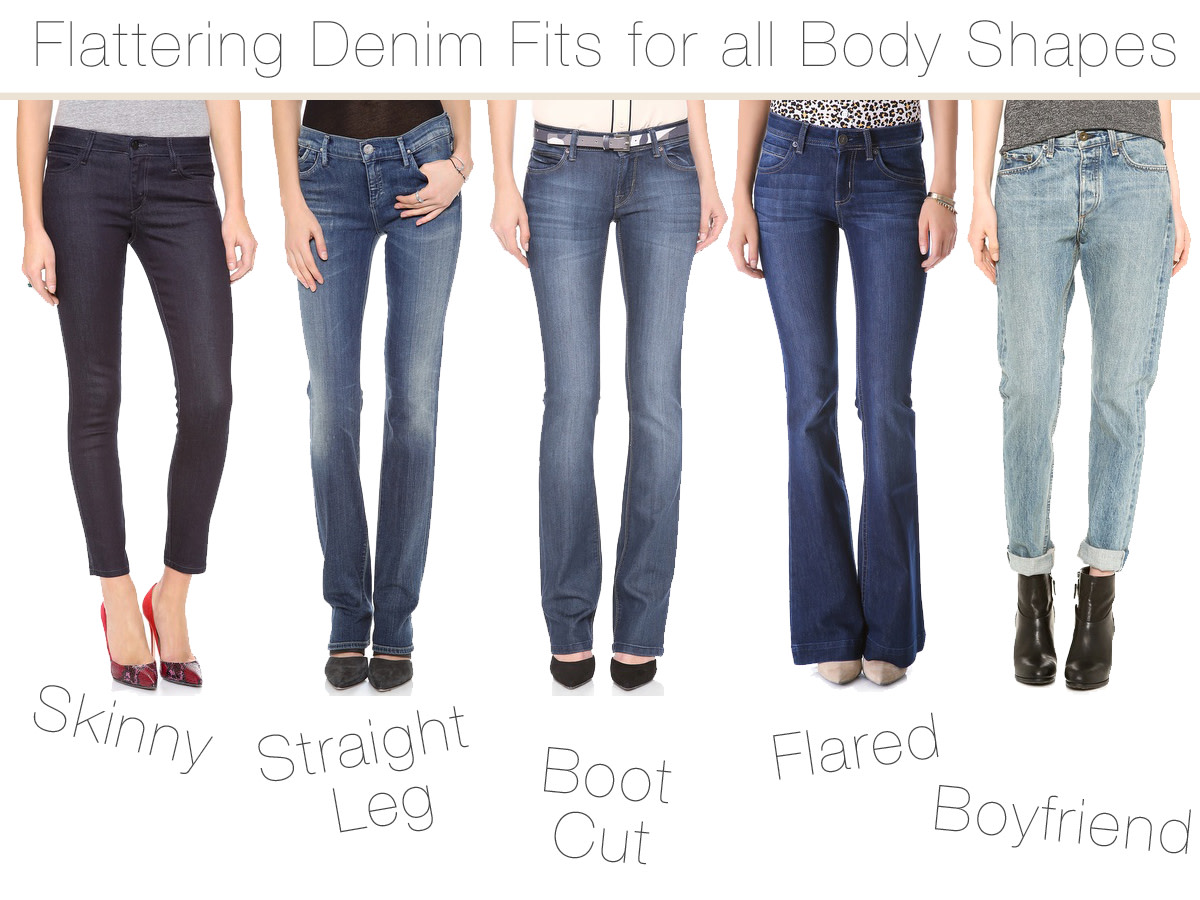 How to Choose Flattering Jeans that Fit all body type ...