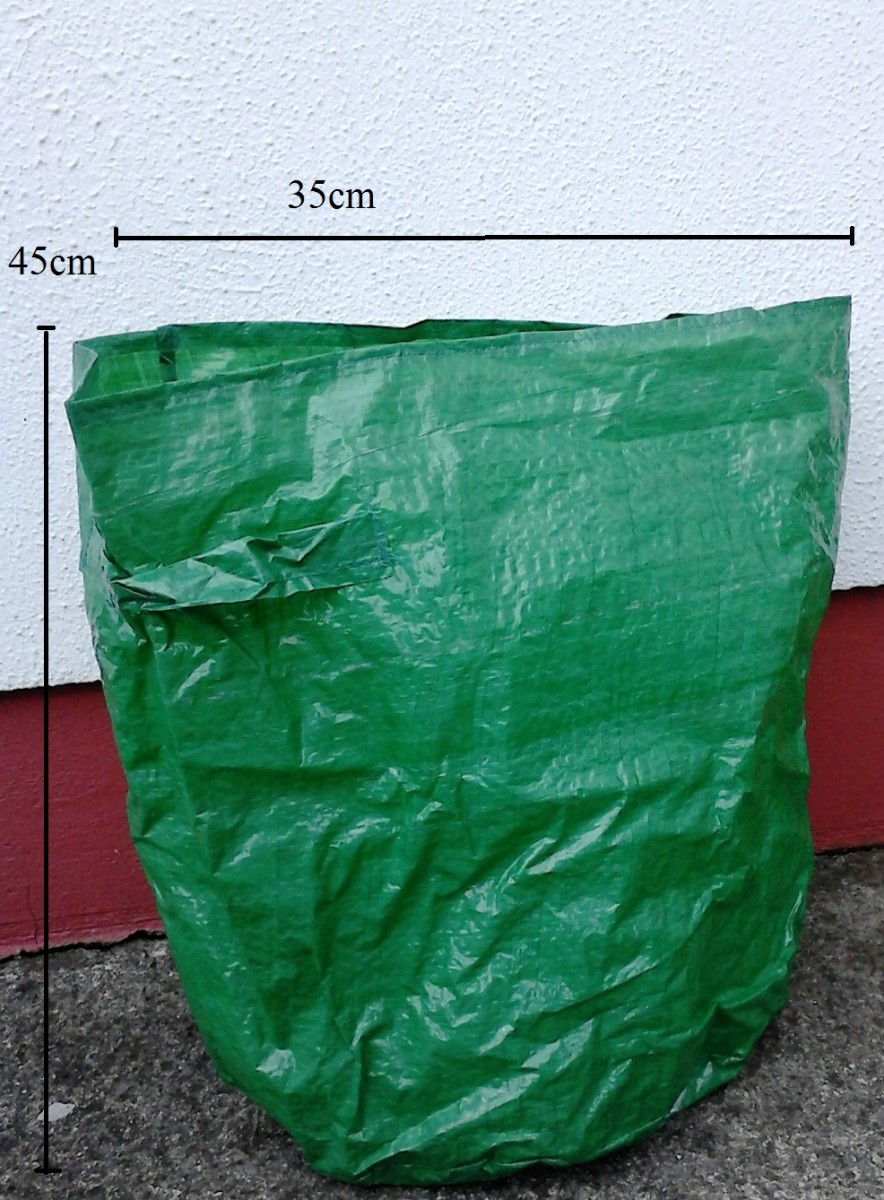 This is the reusable planter bag or grow bag that you can buy for growing potatoes in.  You can store it anwhere.