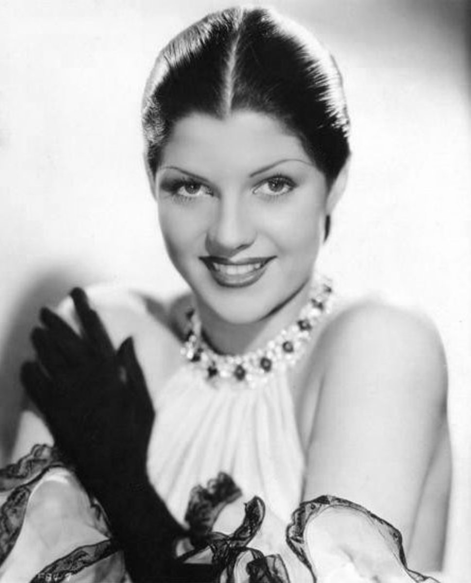 Rita Cansino in 1935 prior to the make-over that turned her into Rita Hayworth..