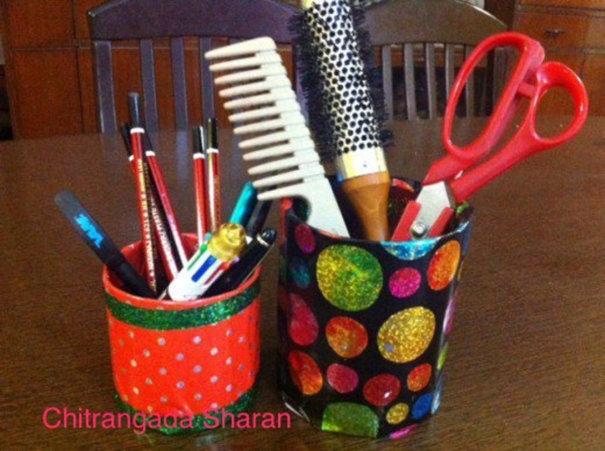 Easy Crafts for Kids: Reuse Waste Materials to Make Multi-Purpose Holders for Pens, Pencils, Spoons