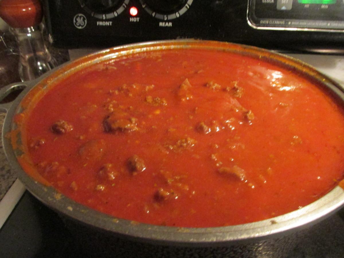 Tomato Sauce with hamburg