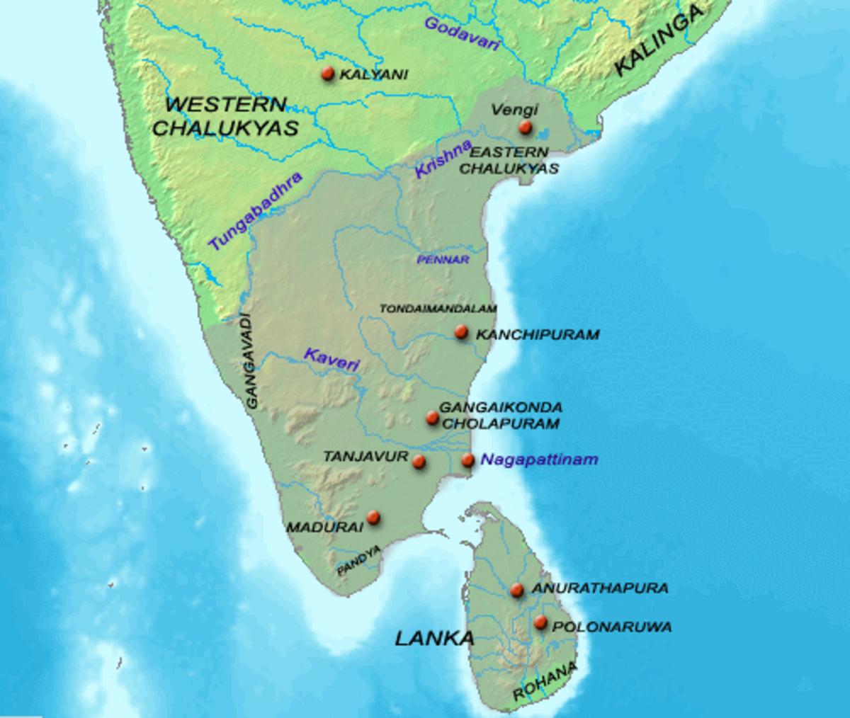 Chola territory under Rajaraja
