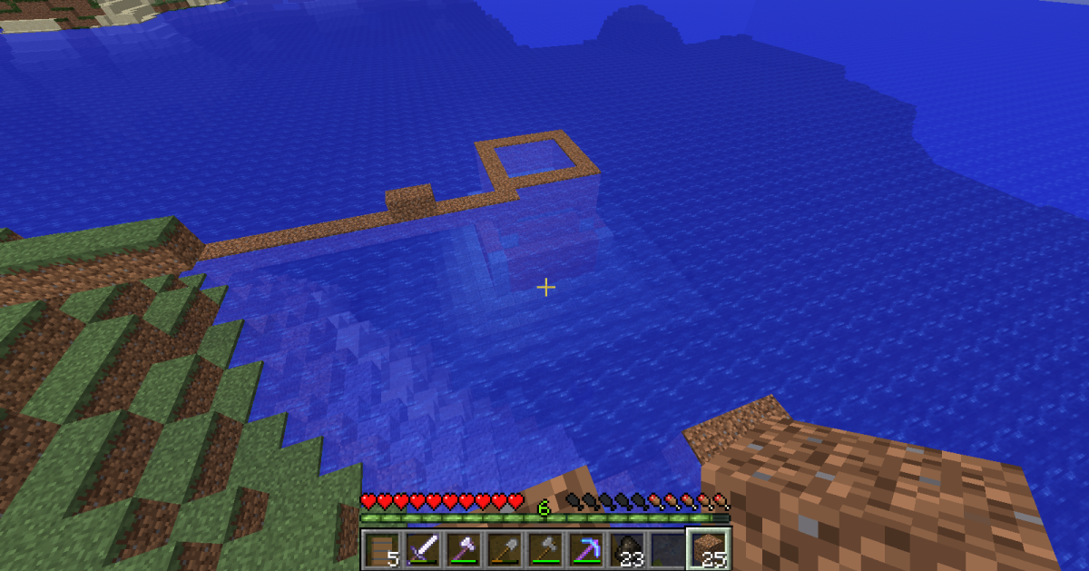 Minecraft Clearing an Ocean Monument