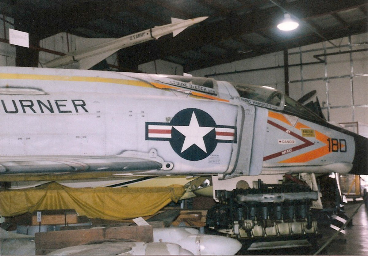 The F-4 Phantom II at the Paul E. Garber Facility, Silver Hill, MD, 1998.