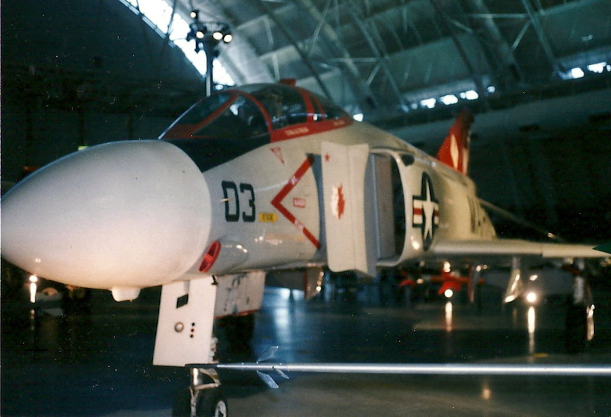 An F-4 Phantom II at the Udvar-Hazy Center, Dulles, VA.