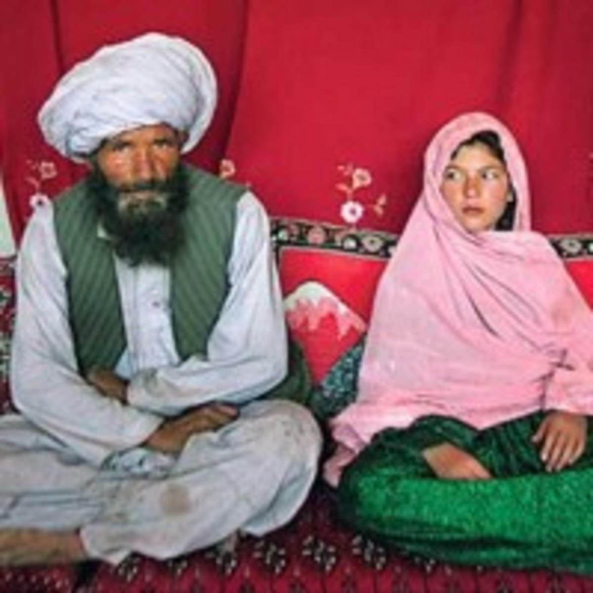 Young Child Bride and her husband in Syria
