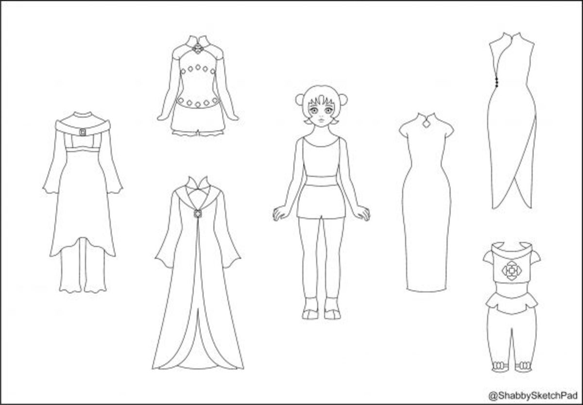 my paper doll coloring page