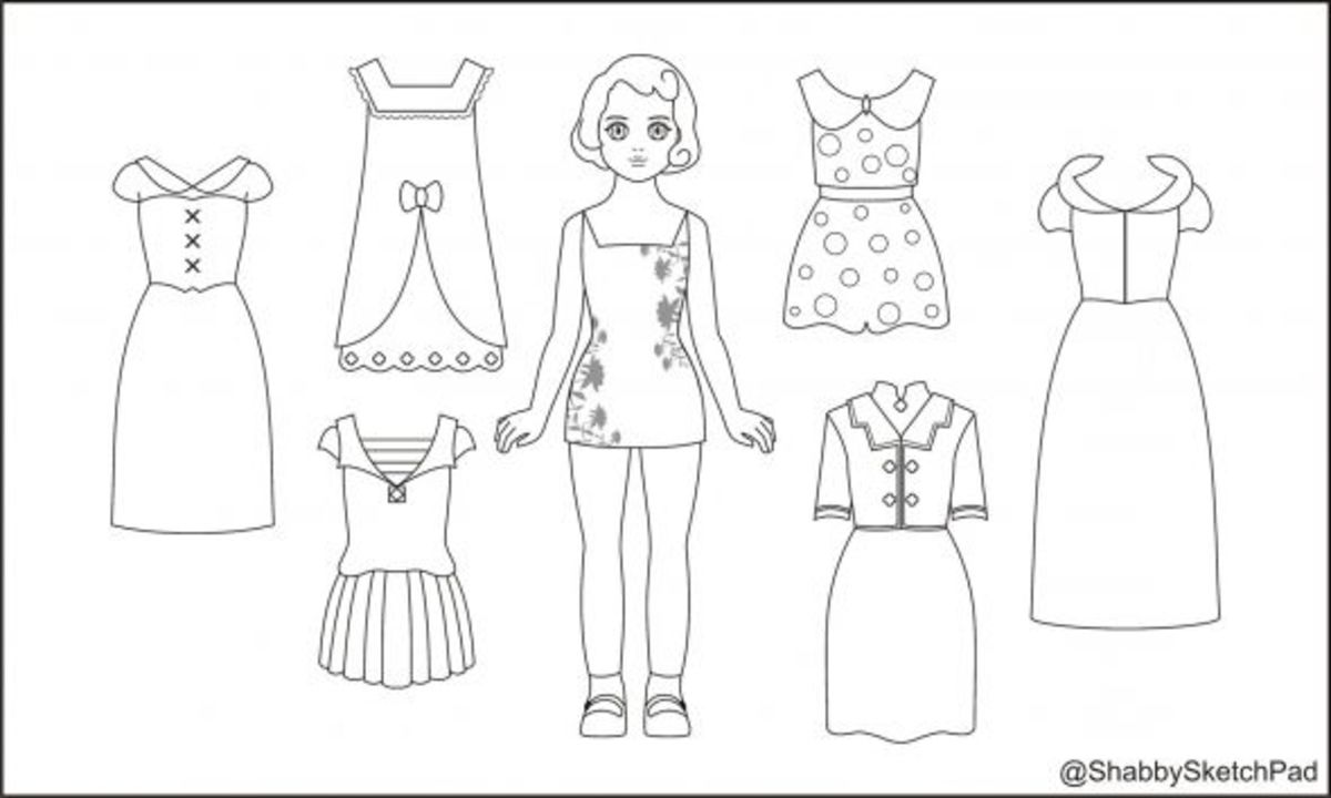 Paper Dolls Coloring Page HubPages