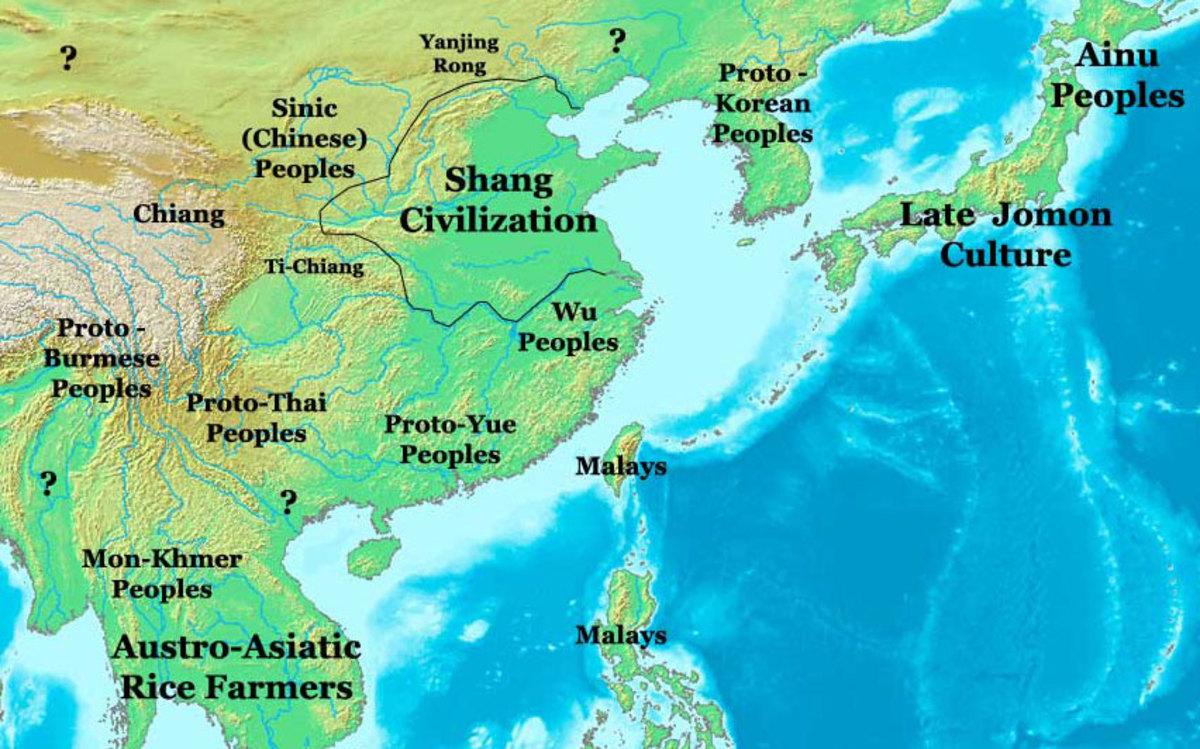 Shang Dynasty Map