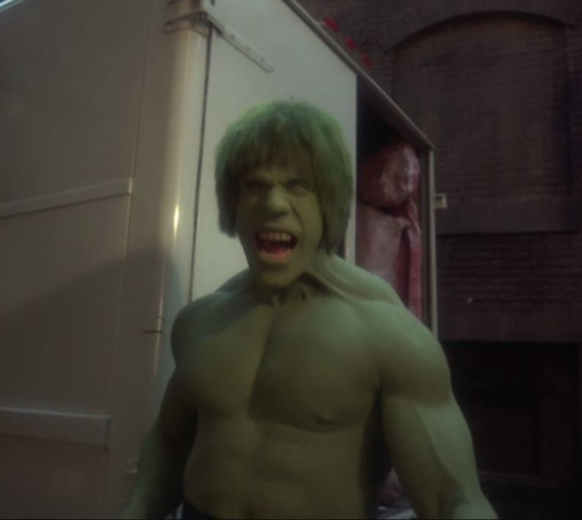 Ferrigno's interpretation of an aggressive Hulk is truly menacing