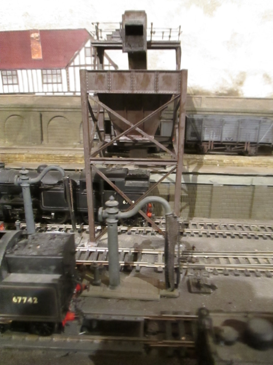 The loco coaler at Ayton Lane mpd with wagon ramp