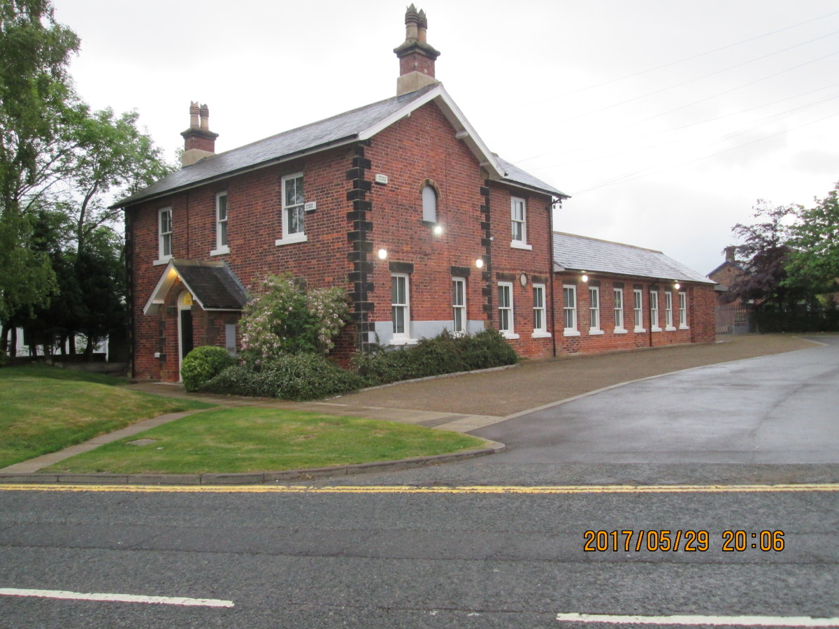 Stokesley Station near the Cleveland Hills no longer plays host to rail traffic. It's part of an industrial estate on the south side of town. The station house - this end - is now an architect's office