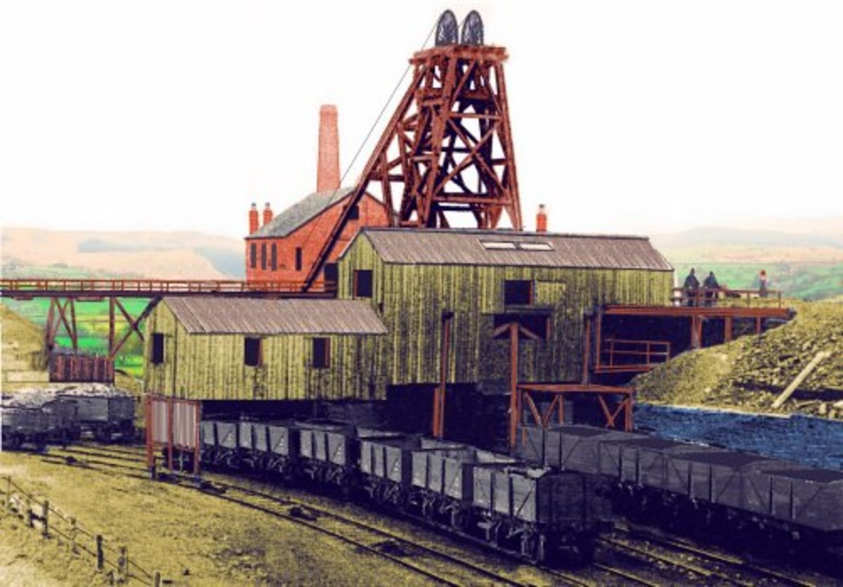 Here's a sketch of a coal mine with headgear, screen and washery that shows what you can do with Pola kit parts.