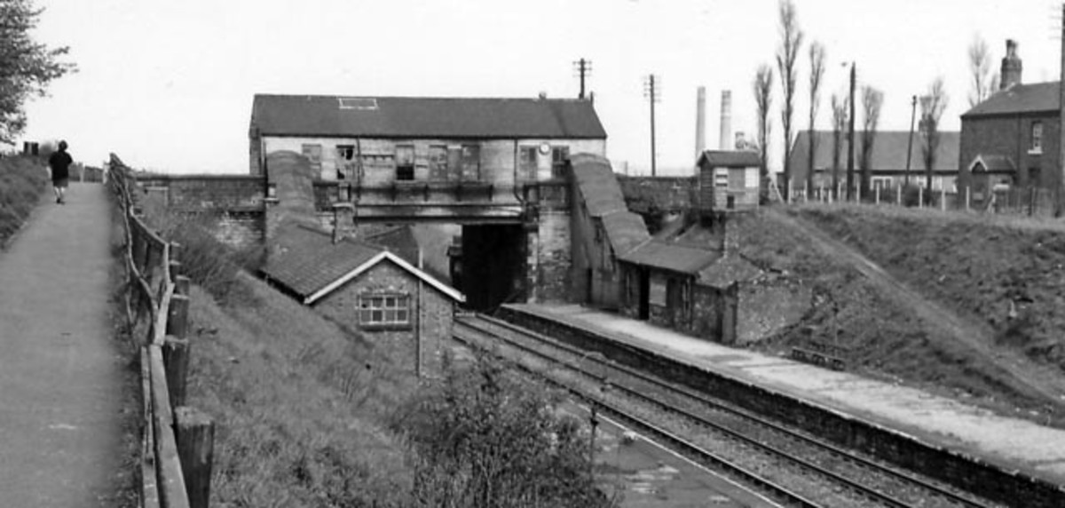 Colliery Station, County Durham. Take away the grime and you've got some interesting station buildings in this view. Worth research?