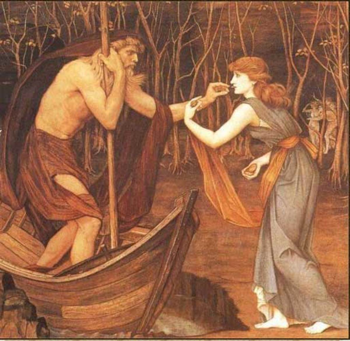 Charon and Psyche - John Roddam Spencer Stanhope (1829–1908) PD-art-100