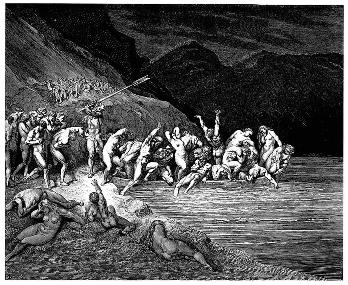 Charon Herding the Deceased - Gustave Doré (1832–1883) PD-art-100
