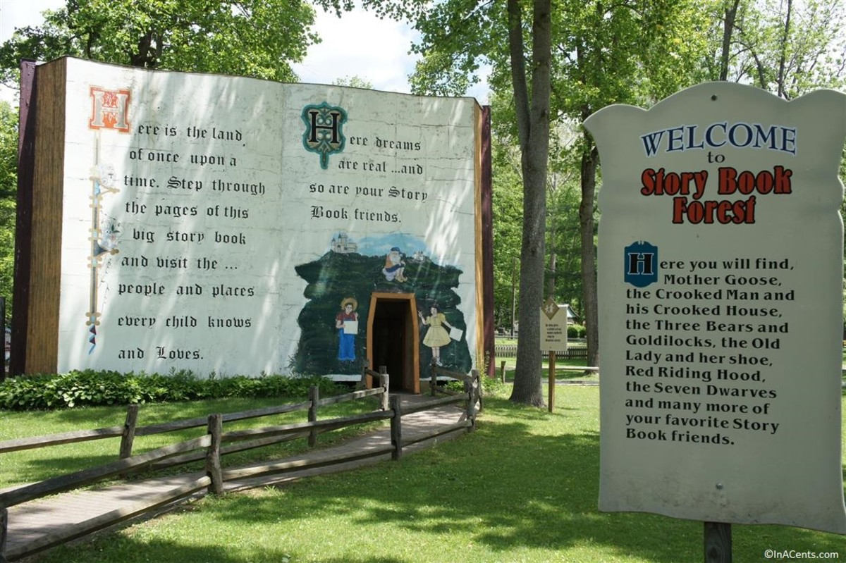 The entrance to Story Book Forrest