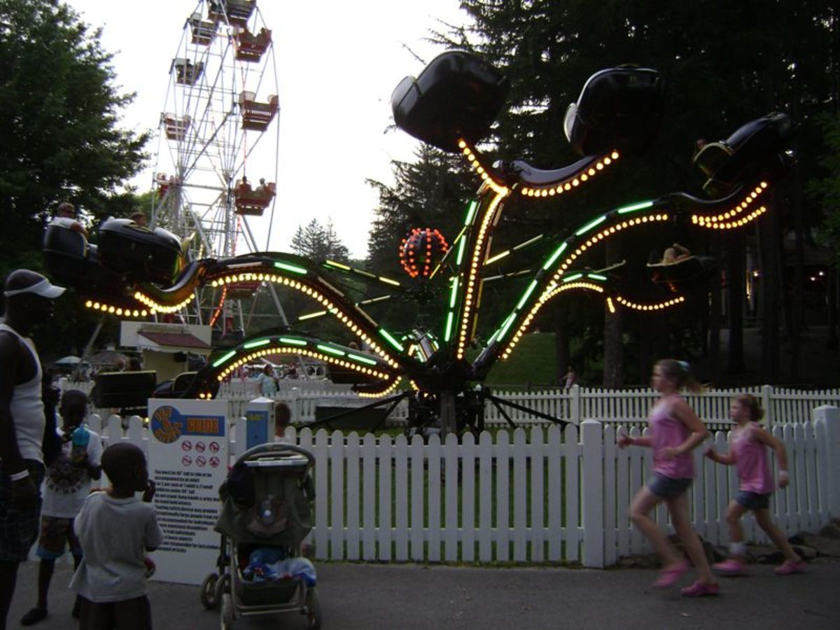 The Spider Lit Up
