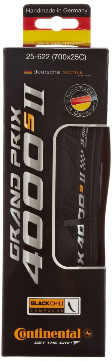 The Continental GP 4000S II offers a great combination of grip, speed, durability and puncture resistance making it ideal as a training tire