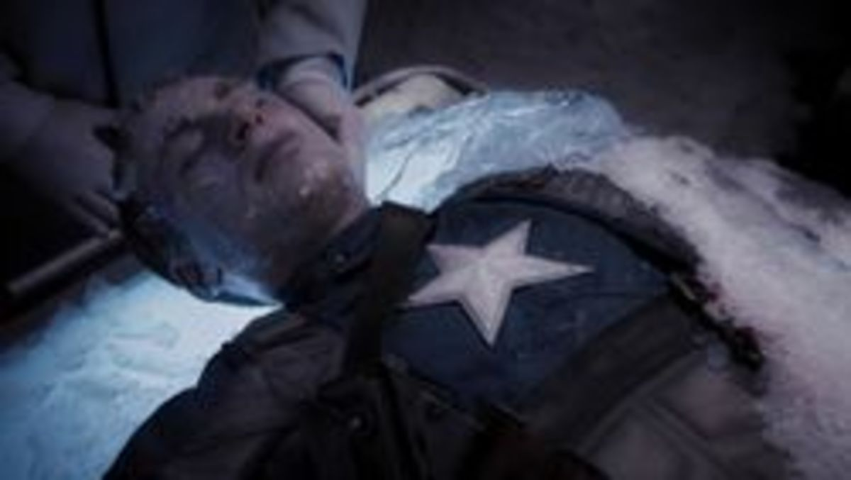 Rogers retrieved by the Avengers and thawed.
