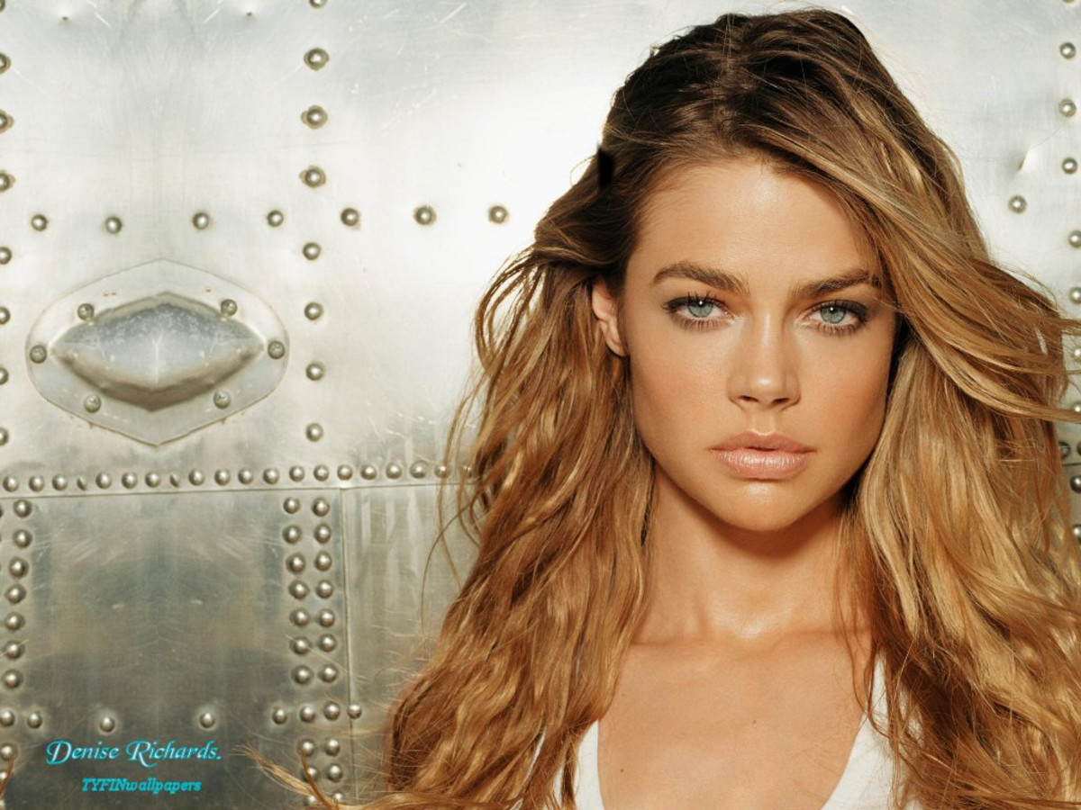 Denise Richards in white top