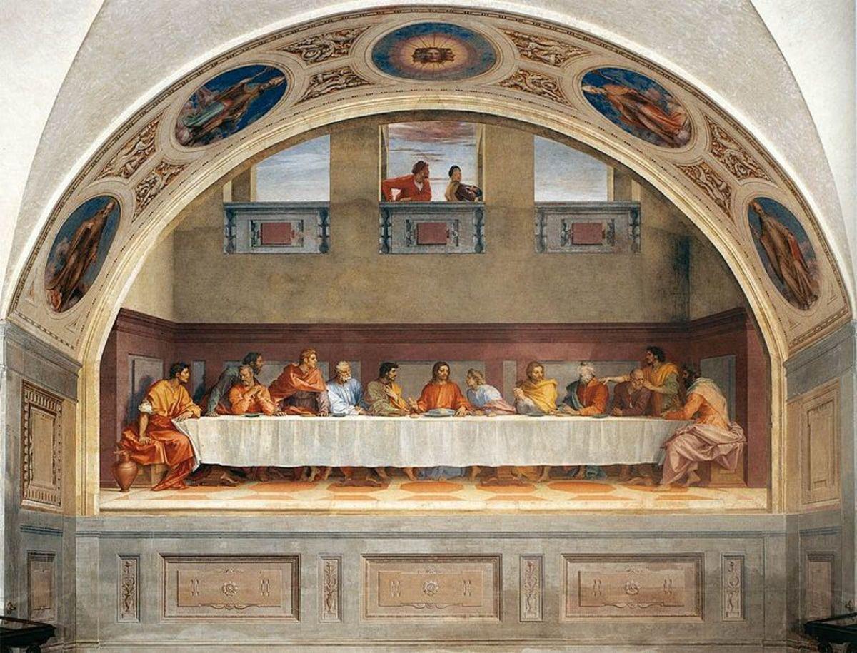Andrea del Sarto, Last Supper (1520-1525), Florence Monastery of San Salvi