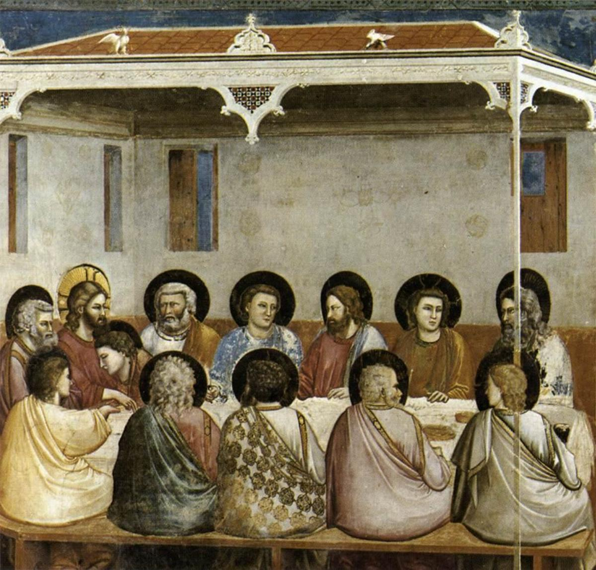 Giotto, Last Supper (a 1305), Padua Scrovegni Chapel