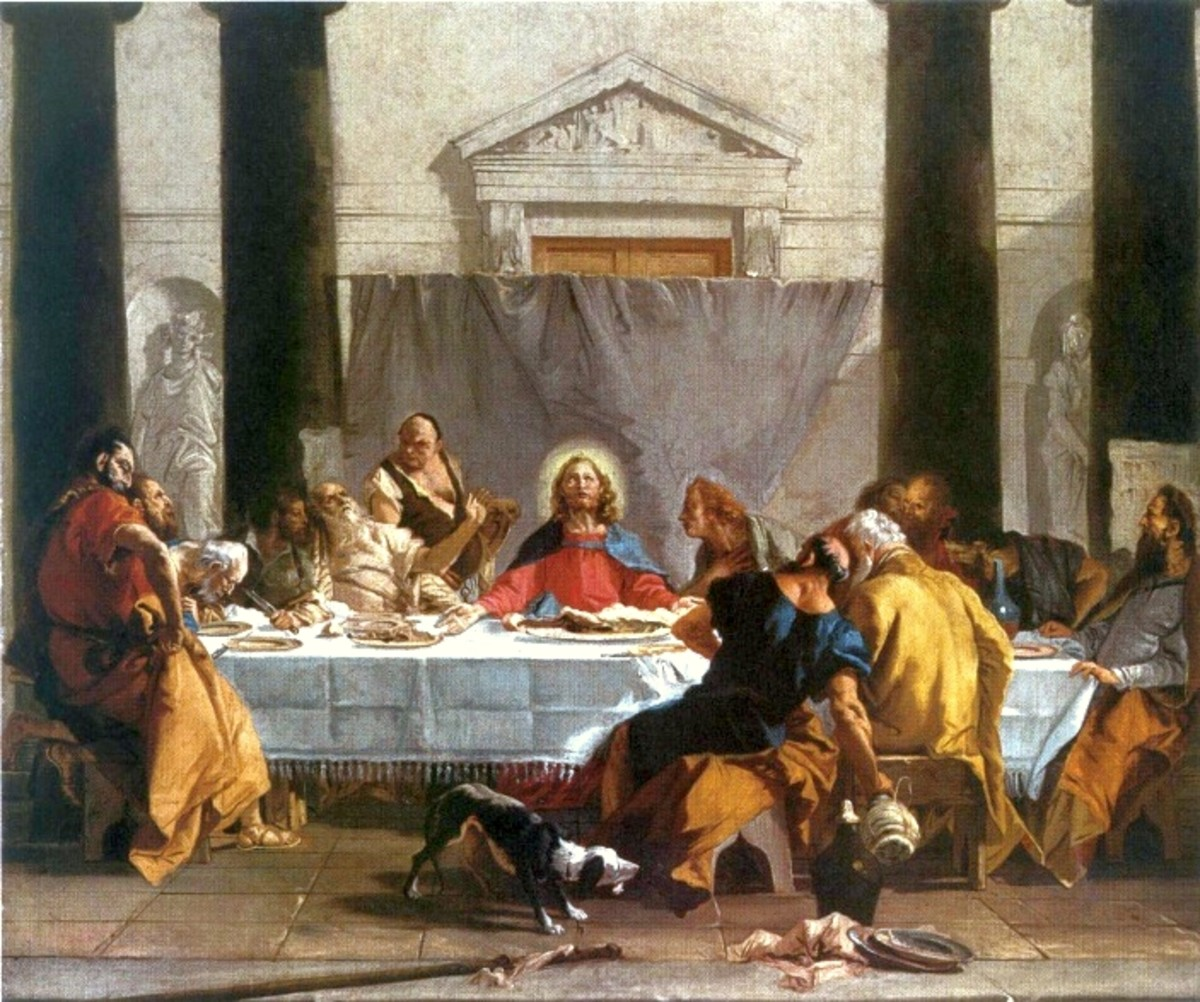 Giambattista Tiepolo, Last Supper (1750), Warsaw Museum of Fine Arts
