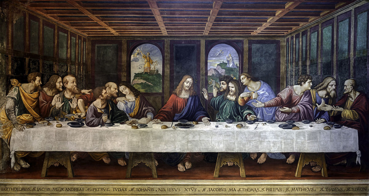 Last Supper of Ponte Capriasca (copy after Leonardo, a. 1550), Sant'Ambrogio Church