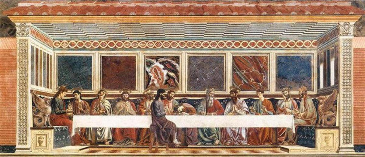 Andrea del Castagno, Last Supper (1447) Florence Monastery of Sant'Apollonia
