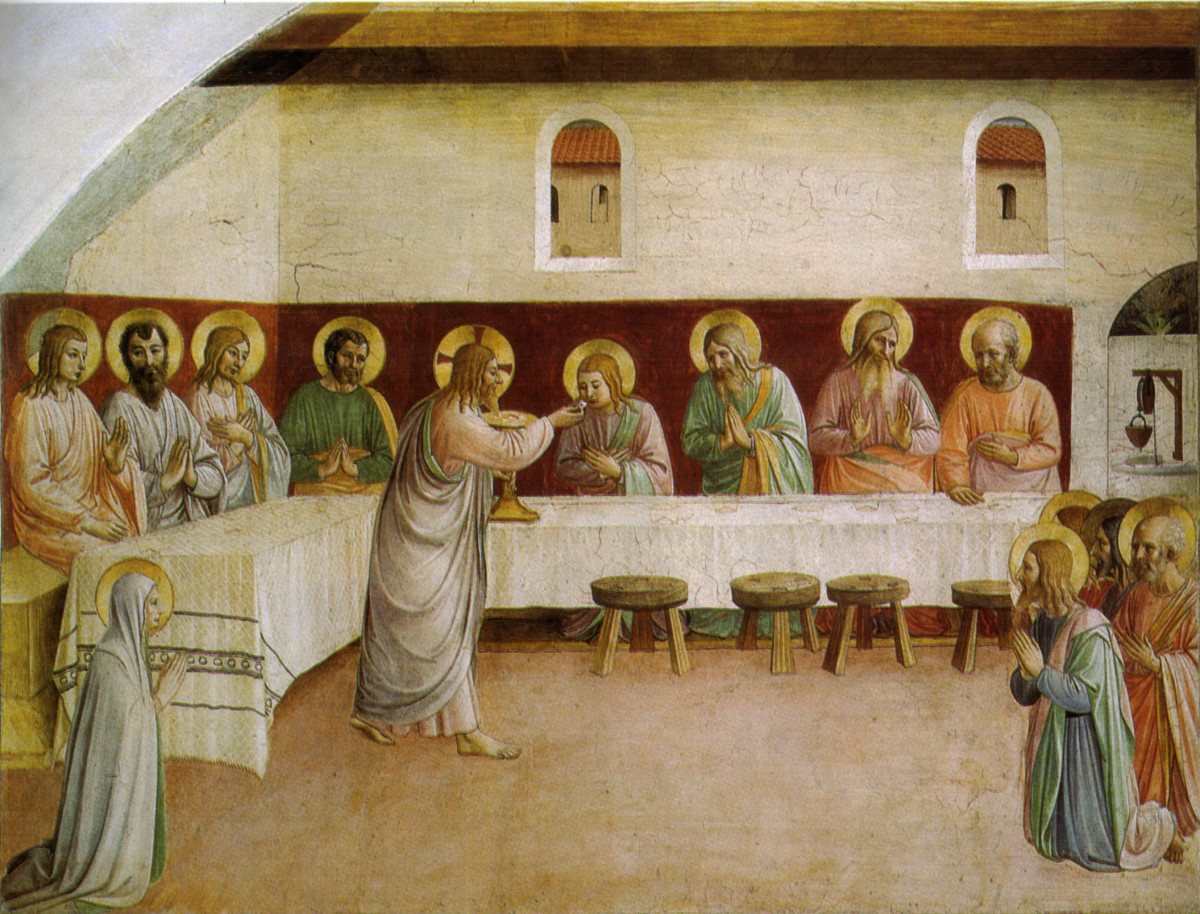 Beato Angelico, Communion of the Apostles (1440-1442), Florence San Marco Monastery