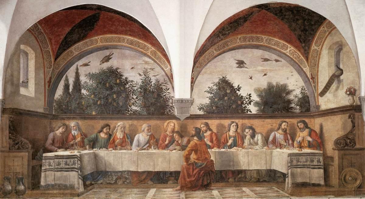 Domenico Ghirlandaio, Cenacolo of Ognissanti (a. 1480), Florence