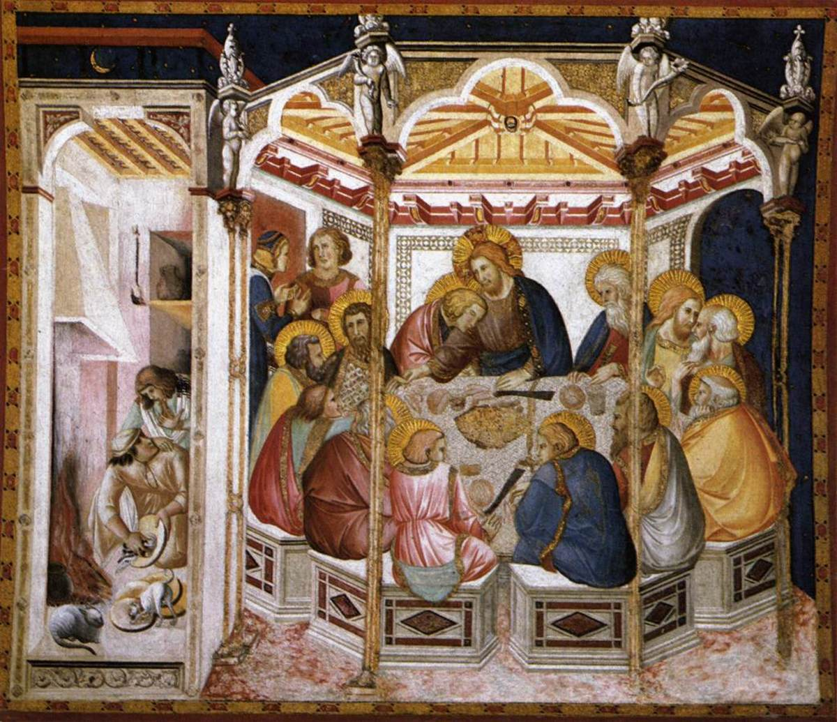 Pietro Lorenzetti, Last Supper (1310-1320) Assisi Lower Basilica