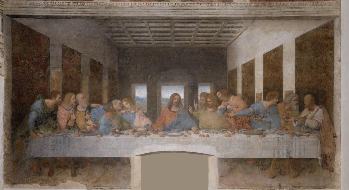 Leonardo, Last Supper (1494-1498), Milan Santa Maria delle Grazie