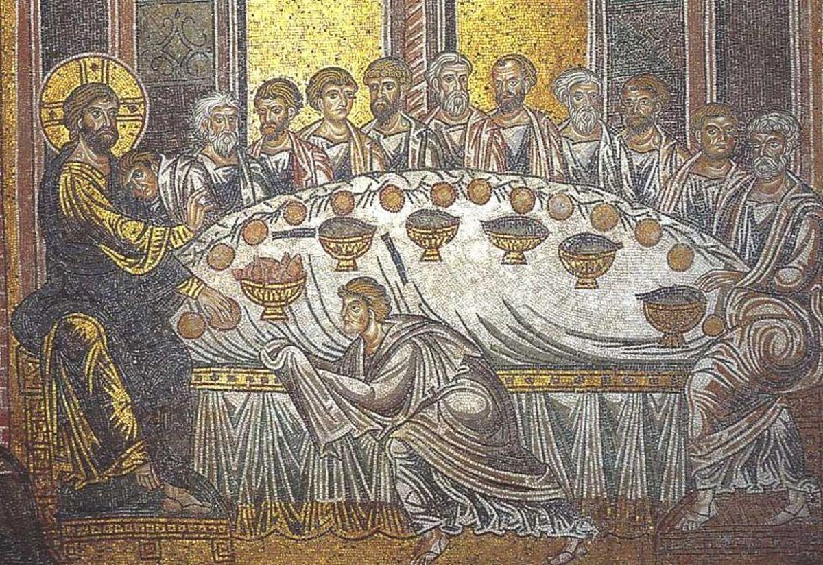Last Supper, Mosaic, VI century, Ravenna Sant'Apollinare