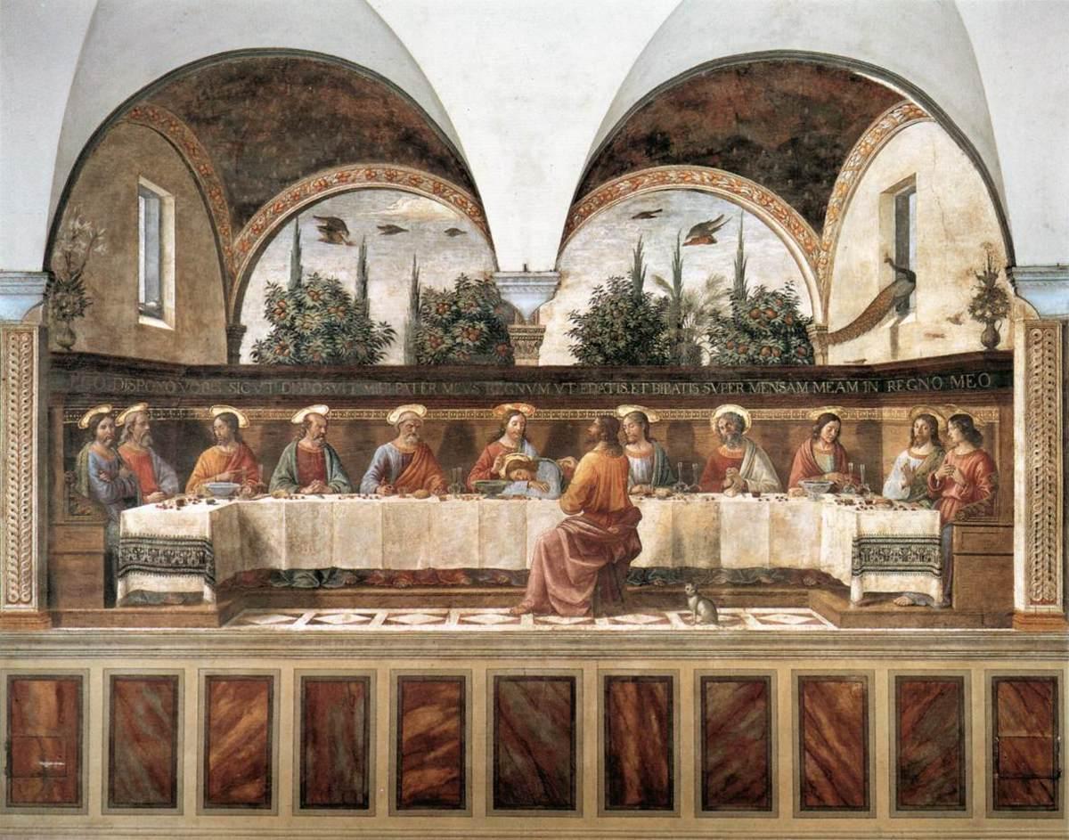 Domenico Ghirlandaio, Cenacolo of San Marco (a. 1480), Florence Monastery of San Marco