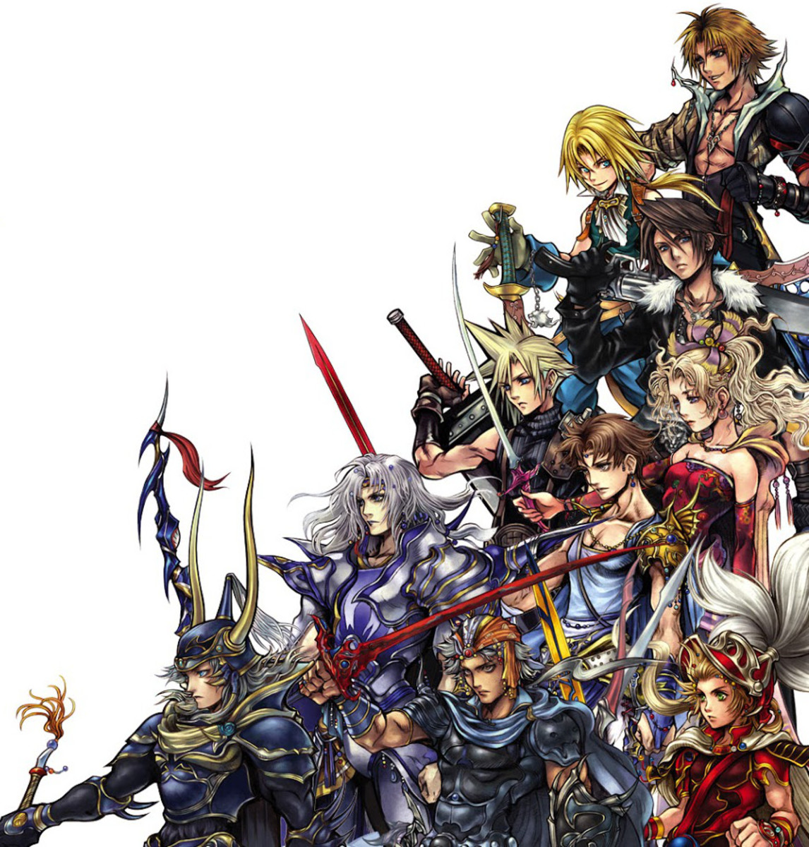 Protagonists of Final Fantasy 1-10