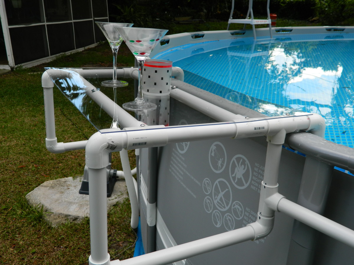 Build a Great Shelf for your Above Ground Pool