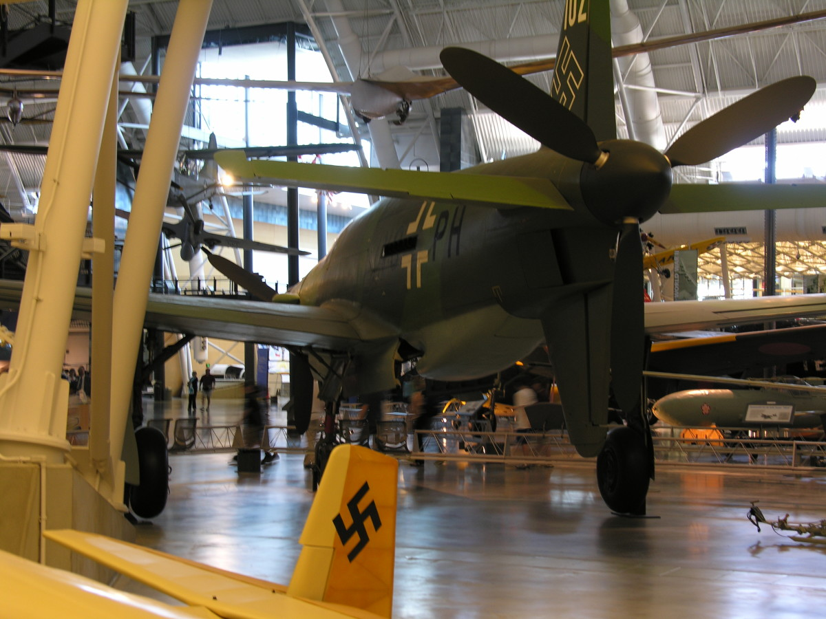 Rear view of the Do 335 at the Udvar-Hazy Center, Dulles, VA, June 2010.
