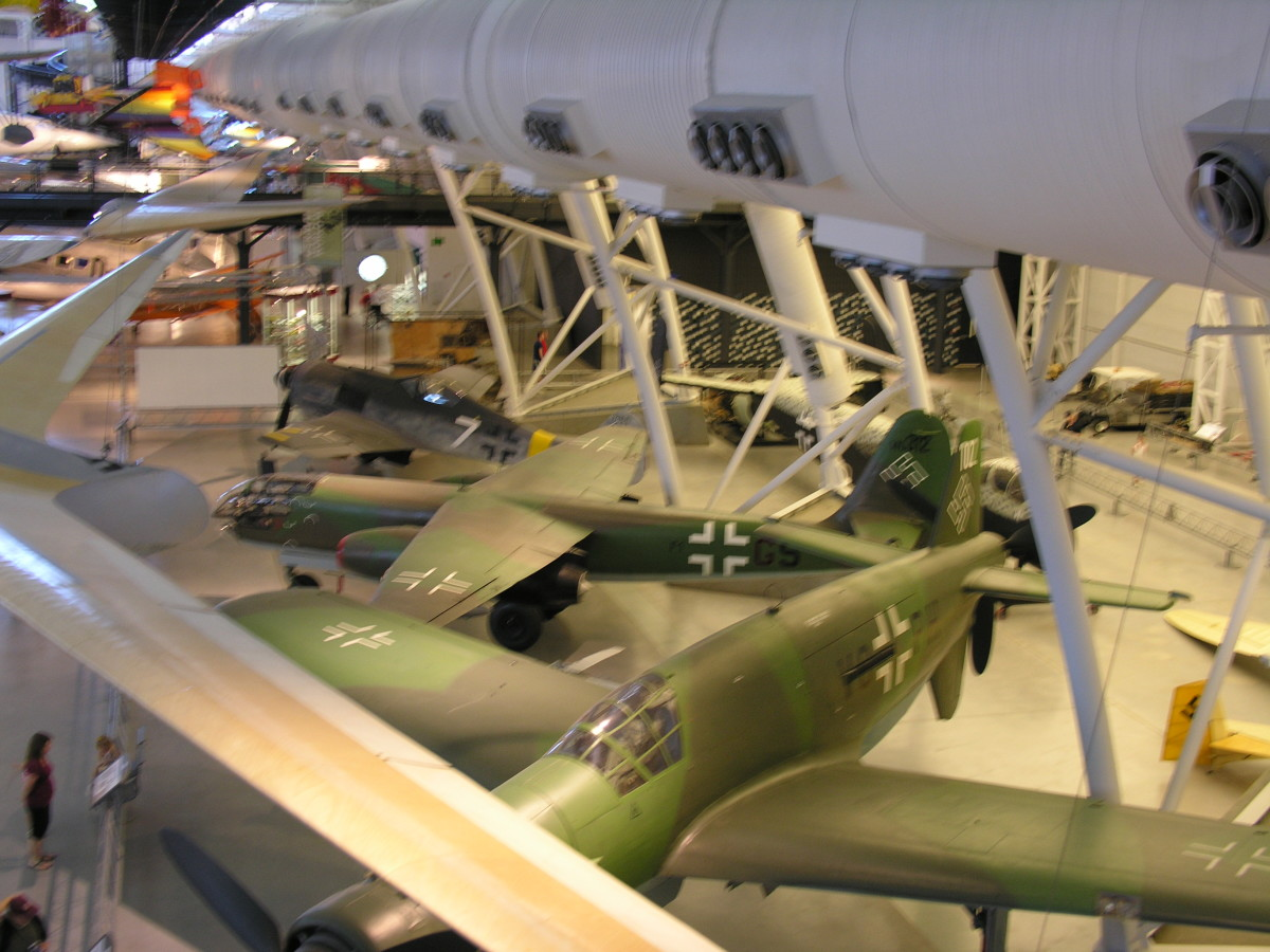 The Do 335 at the Udvar-Hazy Center, Dulles, VA, June 2010.  Compare size with the adjacent Ar-234 and FW-190 in the background.