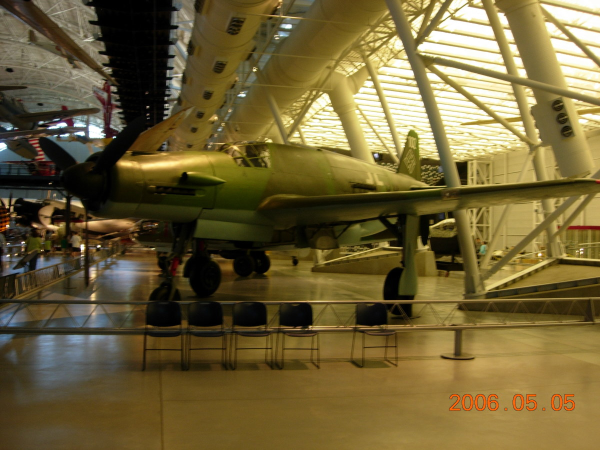 The Do 335 at the Udvar-Hazy Center, Dulles, VA, May 5, 2006.