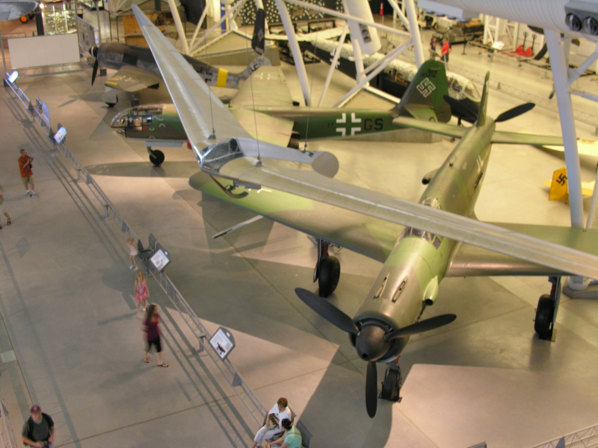 Overhead view of the Do 335 at the Udvar-Hazy Center, Dulles, VA, June 2010.