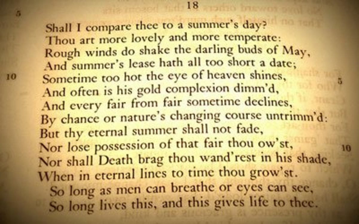"""Credit: """"Sonnet 18,"""" © 2008 Jinx!, used under a Creative Commons Attribution 2.0 Generic license: http://creativecommons.org/licenses/by/2.0/legalcode"""