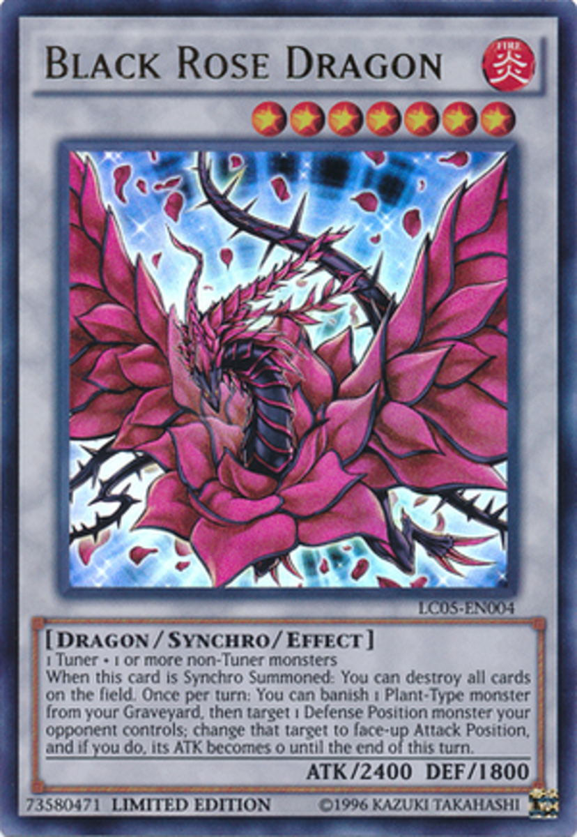 Black Rose Dragon, another Synchro Monster.