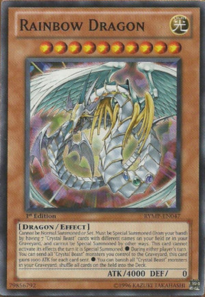 Rainbow Dragon Card.